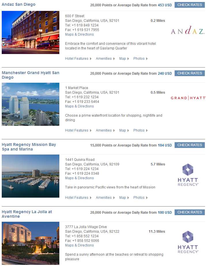 Hyatt Points October Rates