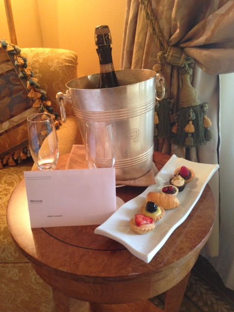 Westin Champagne and Pastries