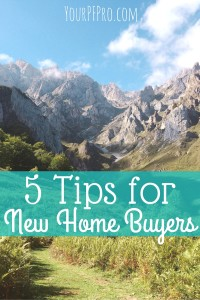 5 tips for new home buyers from someone who's currently going through the process now!