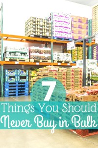 Love to shop at Costco or Sam's Club but don't know what's a deal and what's a dud? Here are the top 7 things you should NEVER buy in bulk!