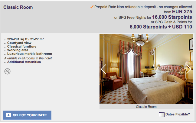 Grand Bretagne - Athens - SPG Cash and Points Option