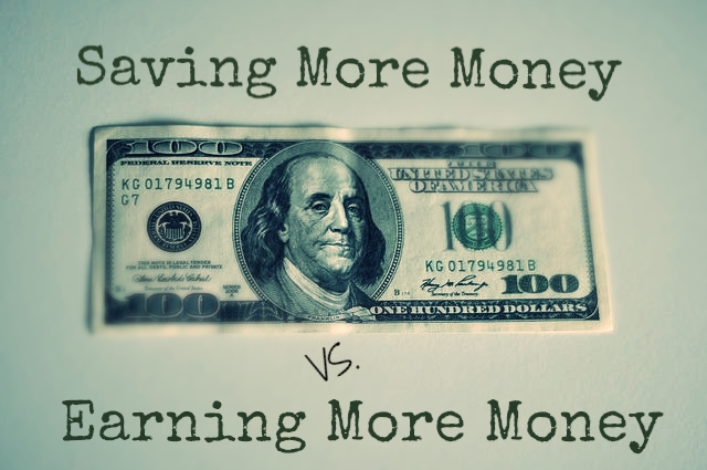 Which Is Better: Saving More or Earning More?