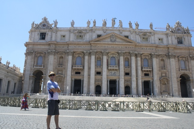 Me in Front of the Basilica and Vatican