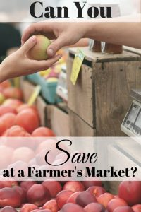 Save at a Farmer's Market
